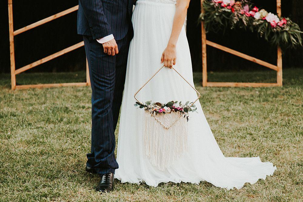 ramo novia con macrame