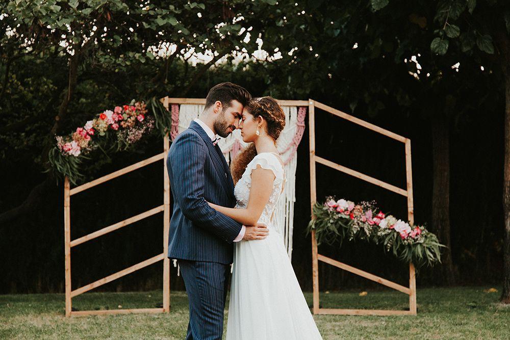 Ceremonia boda con macrame