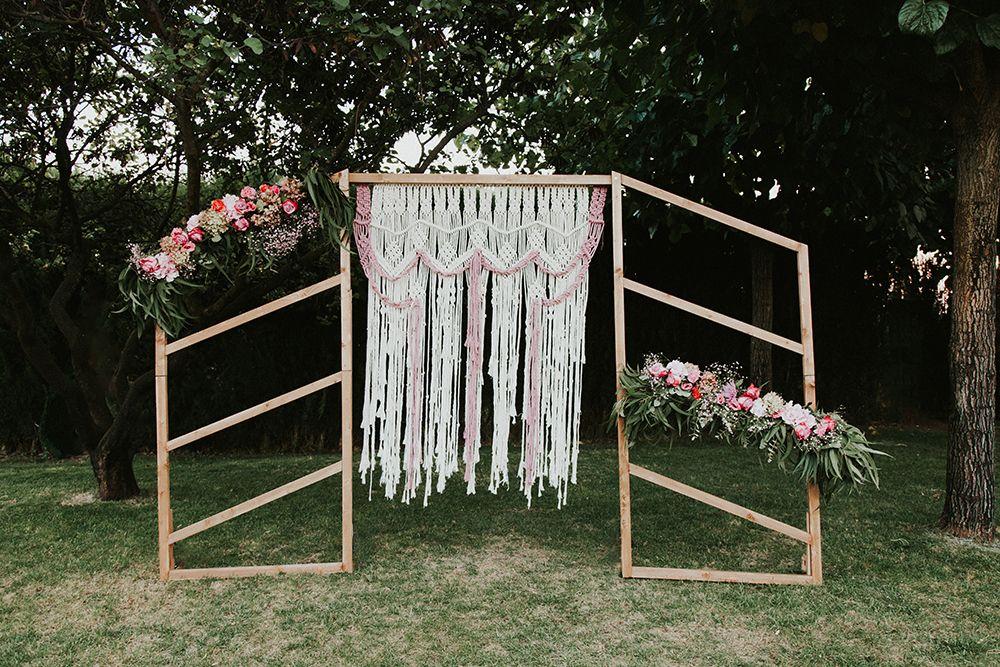 Altar bodas macrame