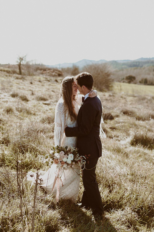 novios boda otoñal