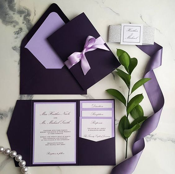 invitaciones boda ultra violet