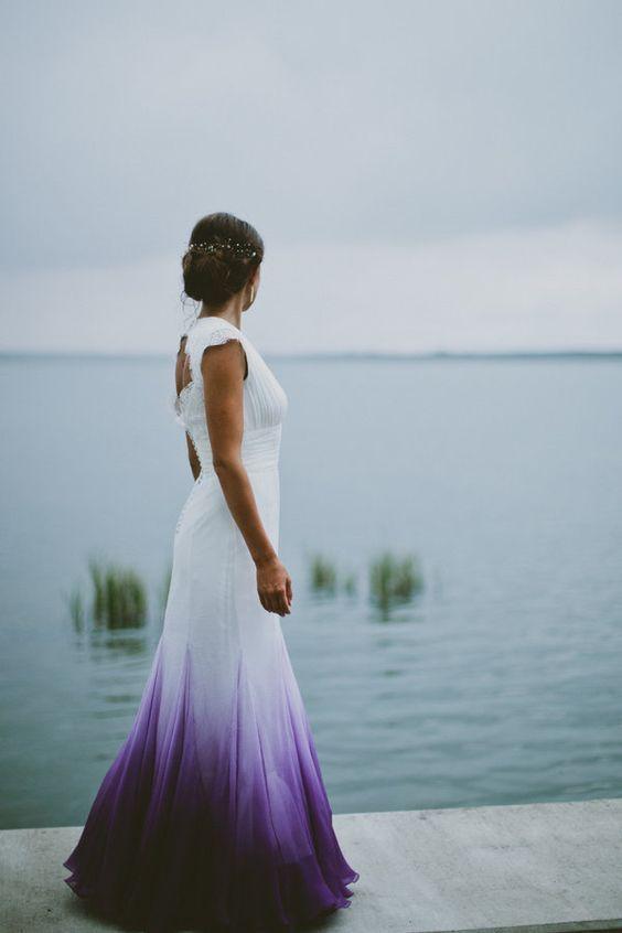 vestido de novia ultra violet