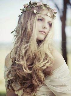 peinados cabello suelto novias