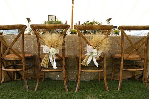 espigas decoración boda