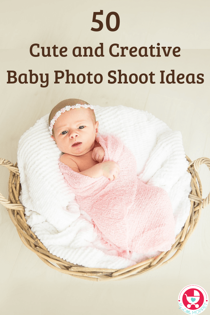 1st Month Baby Photoshoot : month, photoshoot, Creative, Photo, Shoot, Ideas
