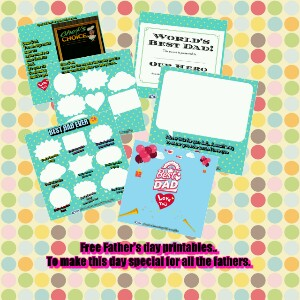 Father's DAY Giveaway| Free father's day printables for all the entries.