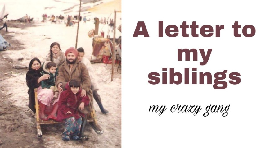 Letter to my siblings