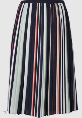 REBECCA MINKOFF stripped pleated skirt