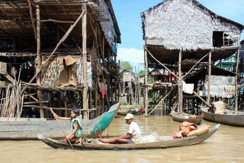 siem reap village flottant
