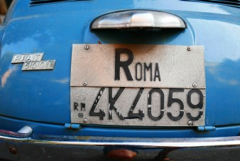 Roma License Plate