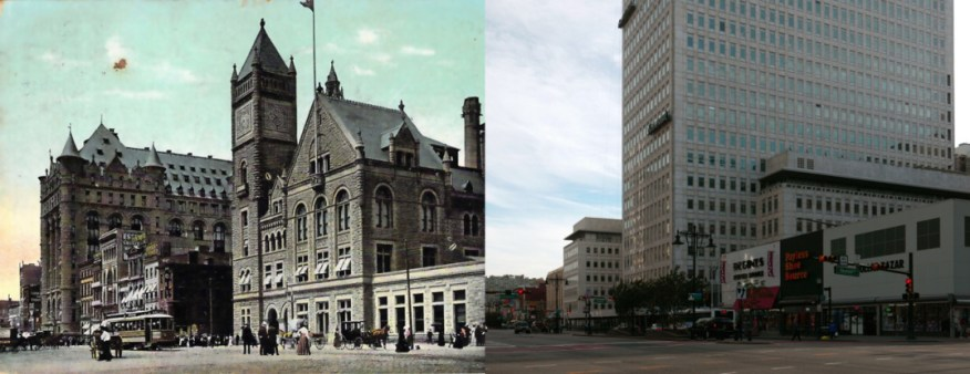 Prudential and Old Post Office, both now demolished.
