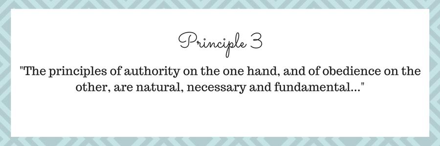 Charlotte Mason's third principle