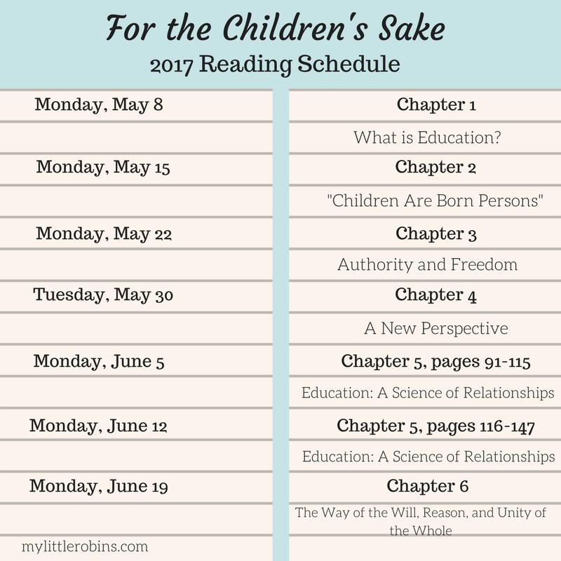Charlotte Mason Book Club: For the Children's Sake