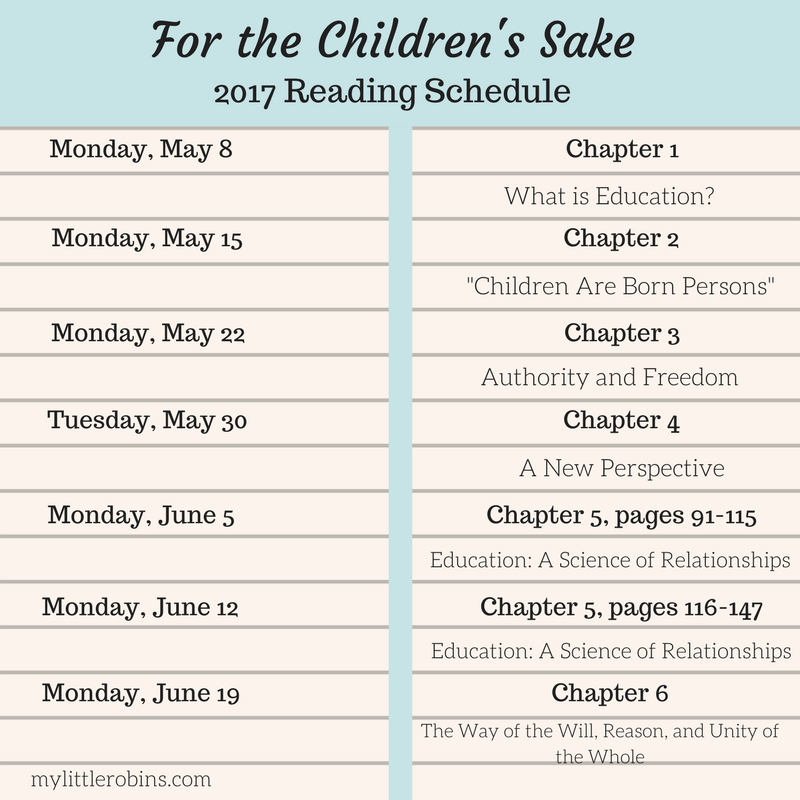 Charlotte Mason Book Club: For the Children's Sake