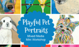 Playful Pet Portraits: A Delightful Online Art Workshop