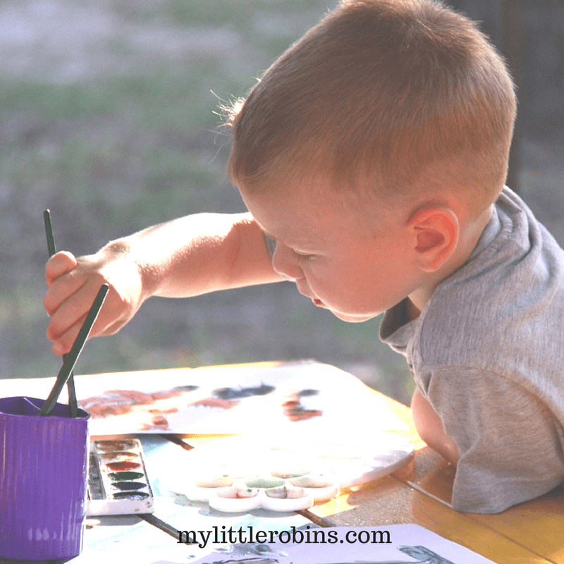 Painting for Fine Motor Skills