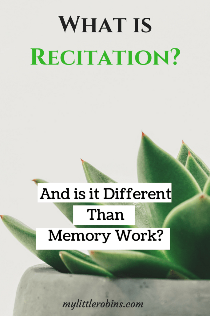 What exactly is #recitation, according to #CharlotteMason ?