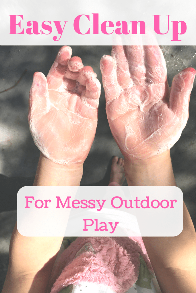 #messyplay can be stressful- here are some easy ways to clean up!