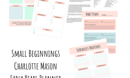 Small Beginnings Charlotte Mason Early Years Planner