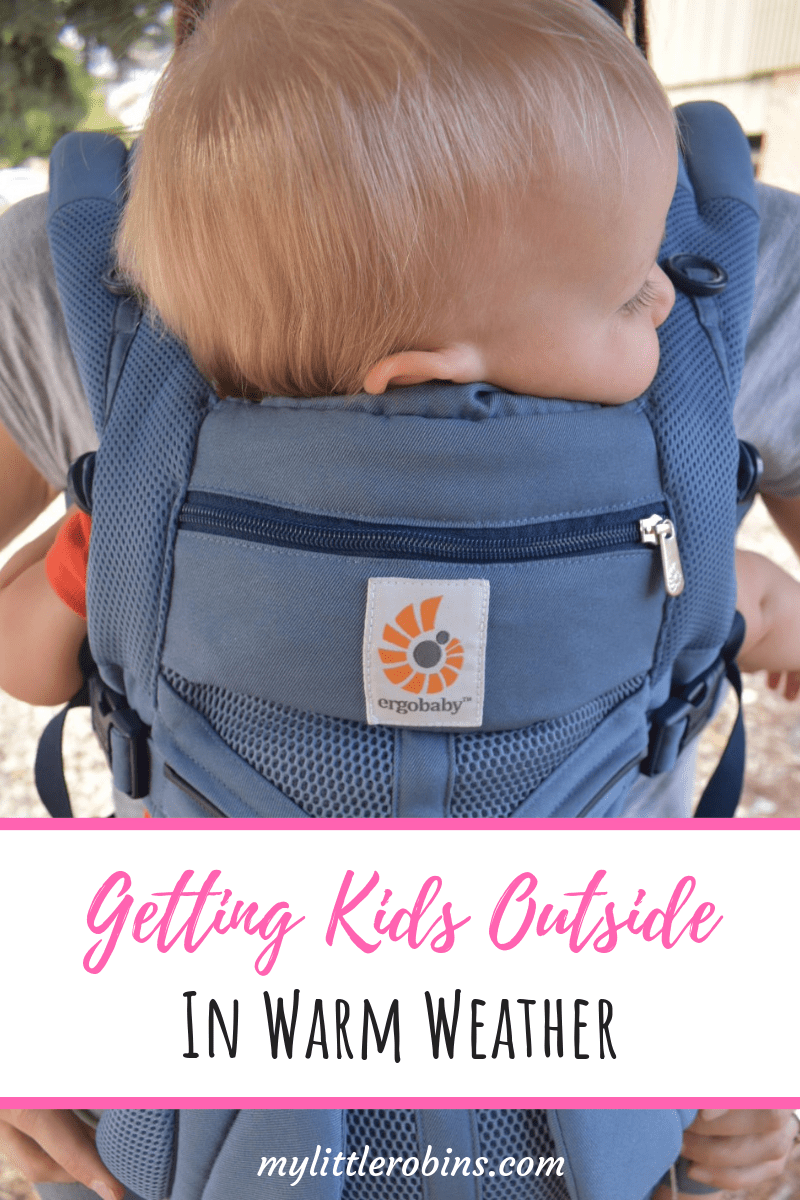 #ergobaby Cool Air Mesh for getting #outside with kids!