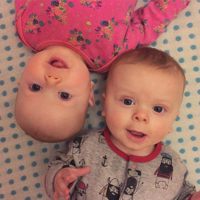 46/365 We once again have happy babies :) I feel like my instagram is swamped with the twins, but Ruby isn't interested in being infront of the camera at all right now. Totally respecting that and leaving her be. She'll come back to it when she's ready.