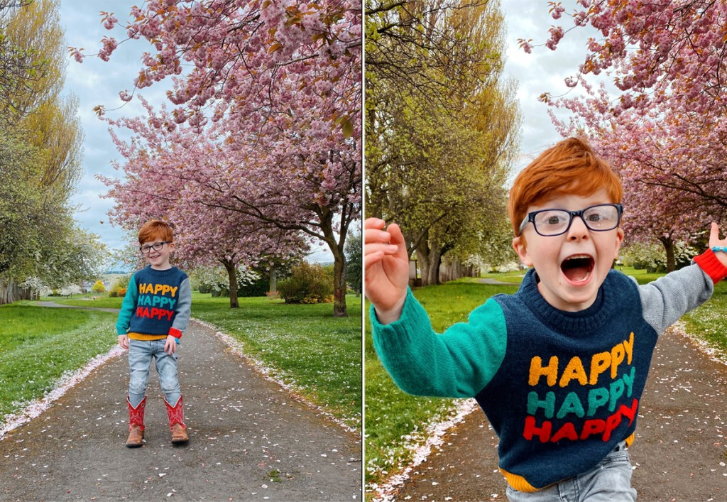 red head twins Edinburgh, Edinburgh model, Edinburgh mummy blogger, uk parent blogger, Instagram influencer, Edinburgh blossom trees, Scotland lockdown, twin mum, large family, Scottish blogger