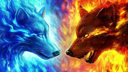 Animated Wallpaper For Android Phone Free Download Fire Amp Water Wolves Animated Wallpaper Mylivewallpapers Com