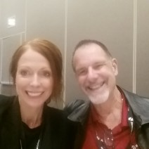 LLU's program director, Dr. Heather Javaherian-Dysinger, at the OTAC luncheon with Michael Davis --- alumnus and clinical FW instructor at LLU's East Campus