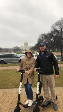 Scooters in front of the Capitol!