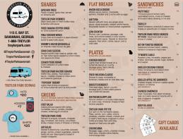 treylor menu