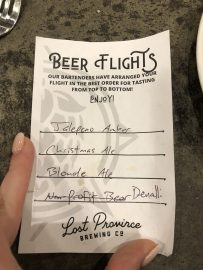 Our Beer Flight
