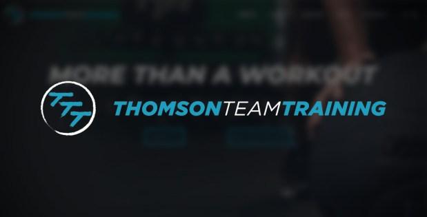 Thomson Team Training Website and Logo Screenshot