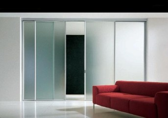 BS Light sliding 4 leaf system συρόμενη πόρτα 4 φύλλα Loft mylofteu