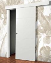 PT9 Door White sliding Λευκή πόρτα συρόμενη Loft mylofteu