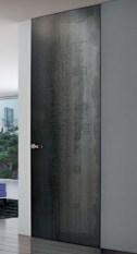 oxidised Grey door no frame πόρτα γκρι οξειδωμένο μεταλλικό χωρίς κάσα Loft mylofteu