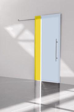 Bi-color zolfo ghiaccio 2 crystal sliding door κρυστάλλινη συρόμενη πόρτα Loft mylofteu