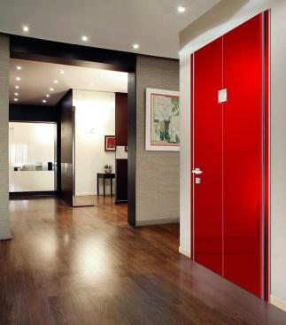 Flat with Crystals red security door Πόρτα Ασφαλείας Loft mylofteu