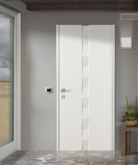 ALIAS_SET 6 Flat security door Πόρτα Ασφαλείας λευκό τρισδιάστατο σχέδιο Loft mylofteu