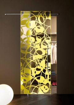 fly colour crystal sliding door συρόμενη κρυστάλλινη πόρτα Loft mylofteu