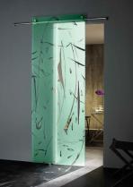 zefira colour crystal sliding door συρόμενη κρυστάλλινη πόρτα Loft mylofteu