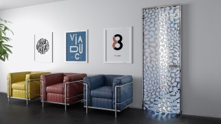Single opening Hybrid crystal door κρυστάλλινες πόρτες LOFT mylofteu