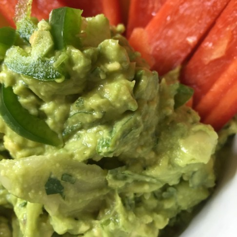 Guacamole paleo chips by My Longevity Kitchen