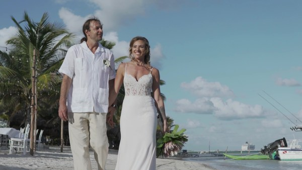 Destination Wedding at Mahahual Quintanarro Mexico.