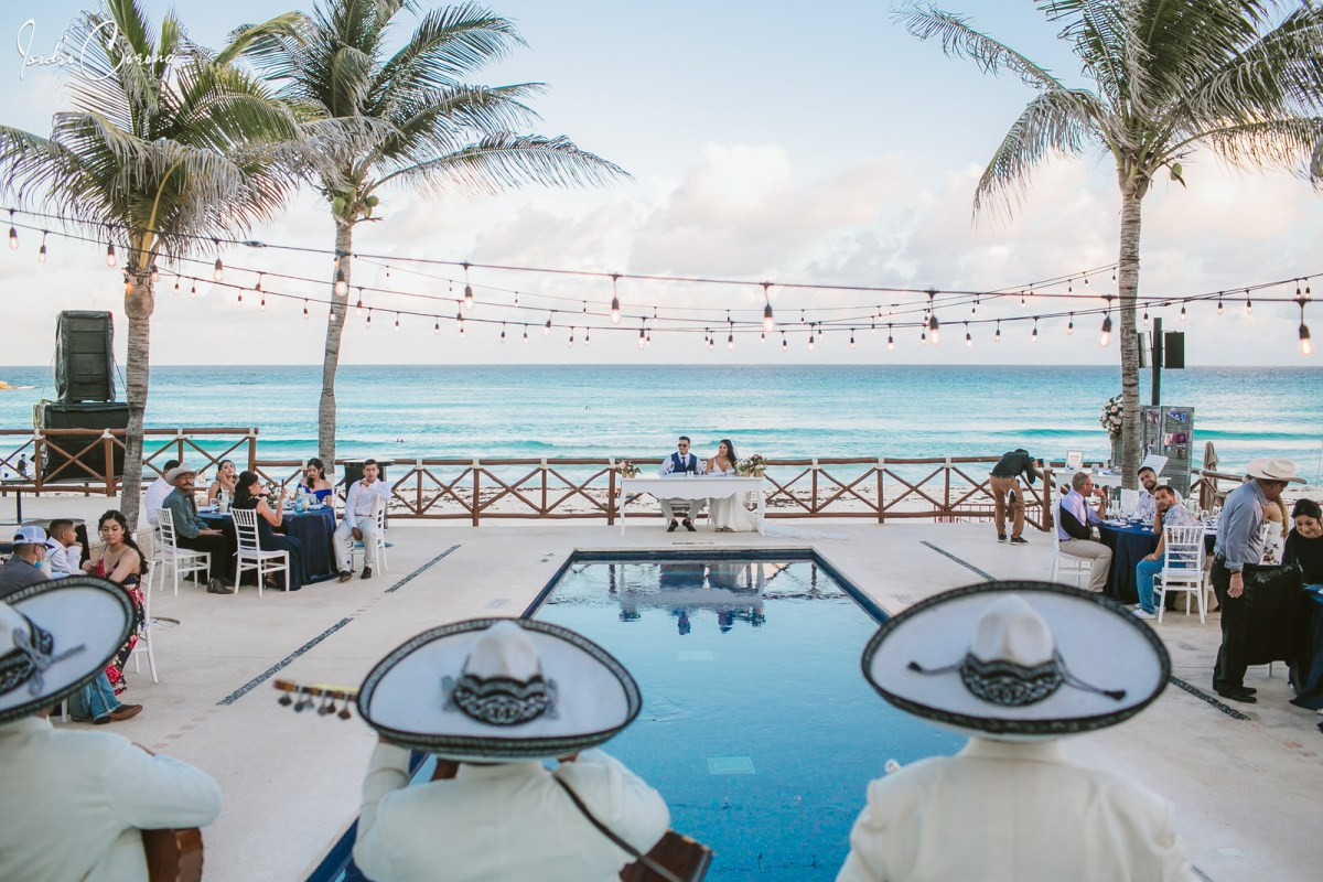 Mariachi at Mandala Beach Club Cancun Wedding