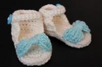Baby Girl Crochet Sunhat and Sandal Set   myloveforcreativity