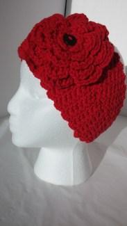 Crochet Valentine Romance Headband Earwarmer