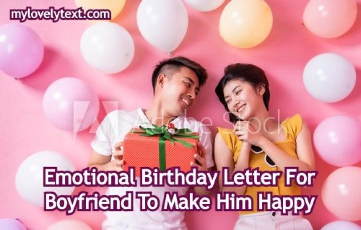 Emotional Birthday Letter For Boyfriend