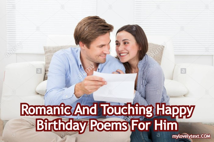 Happy Birthday Poems For Him