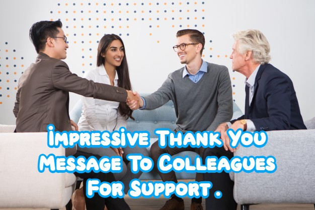 Thank You Message for Colleagues