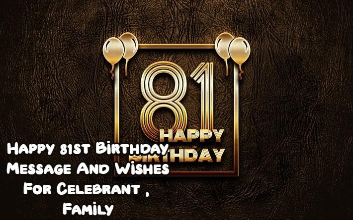 Happy 81st Birthday